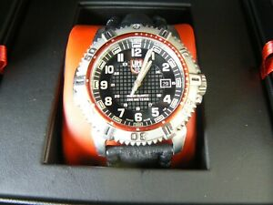 LUMINOX SERIES 6250 LEATHER BAND STAINLESS STEEL CASE COLORMARK NAVY SEAL WATCH