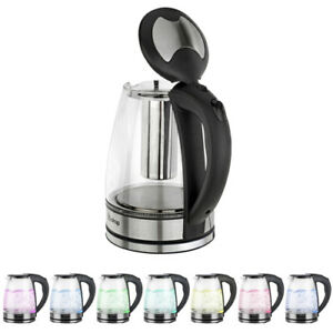 1.8L BPA free Material Electric Glass Hot Water Kettle Colourful LED Light 1500W