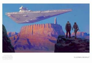 Star Wars Giclee Art Print A Looming Presence on Canvas $250.00