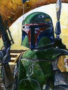 Giclee Art Print Star Wars Boba's Hunt