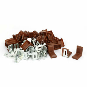 28mmx17mmx28mm Plastic L Shaped Cover Right Angle Corner Support Brackets 50pcs $25.12
