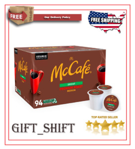 McCafe Decaf Premium Roast Coffee Single Serve K-Cup Pods 100 ct