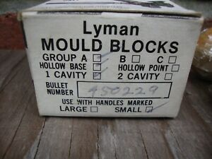 LYMAN 450229 SINGLE CAVITY BULLET MOLD - APPEARS UNUSED - WITH BOX .44 CALIBER
