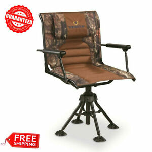 360 Rotating Swivel Hunting Blind Chair with *Armrests* Camo Foldable Portable