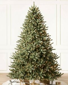 Balsam Hill Classic Blue Spruce Artificial Christmas Tree 7.5 Ft -CLear