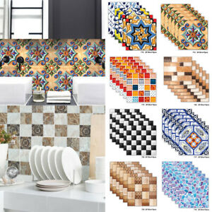 6Pcs 3D Self Adhesive Mosaic Tile Sticker Kitchen Bathroom Wall Stickers Decor $8.06