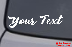 YOUR TEXT Vinyl Decal Sticker Window Wall Bumper CUSTOM Personalized Name Decor $2.39