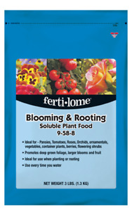 Fertilome,11772, Blooming and Rooting Soluble Plant Food, 9-58-8, 3 LBS