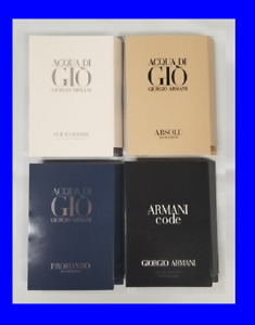 4 ARMANI CODE COLONIA ACQUA DI GIO ABSOLU Mens Cologne Toilette SAMPLE Sprays $16.98