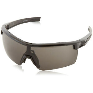 Under Armour UA Freedom Sunglasses Shiny Black Frame Gray Yellow Clear Z87 Lens