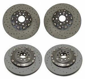 Genuine Front Rear Carbon Ceramic Disc Brake Rotors Kit for BMW F06 F10 F12 F13