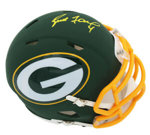 Brett Favre Signed Green Bay Packers Speed AMP NFL Mini Helmet