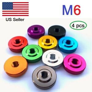 M6 Aluminum Knurled Thumb Nut Hand Thread Nuts metric Packof 4 $7.00