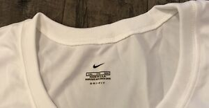 NIKE  Men's DRI-FIT Loose Fit Shirt Short Sleeve Game Tee NEW IN PKG  3XL White