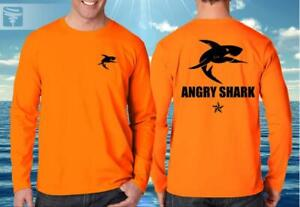 AngrySharkFishingCo® Neon Orange Long Sleeve Performance Dry Fit Shirt $48.00