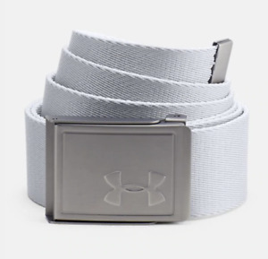 Under Armor Men's UA Webbing Golf Belt 2.0 Free Size White 1305487 100 $31.90