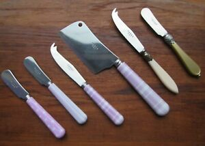 SABRE PARIS FRANCE Cheese Knives Cleaver Spreaders LOT Of 6 Assorted