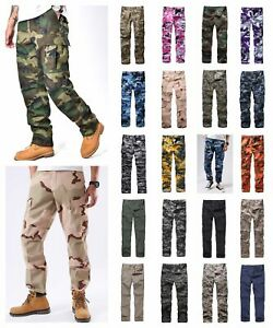 Mens Casual Work Camp Cargo Pants Trousers Military Combat Army BDU Pants $26.09