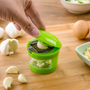 Manual Garlic Press Ginger Onion Crusher Grinder Masher Easy to Clean Green