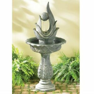 Outdoor Garden Fountain Abstract Art Sculpture Large Waterfall with Water Pump