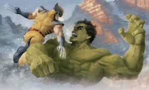 Hulk vs Wolverine Art Print by Sideshow Collectibles Framed $424.99