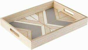 Refined Wood Serving Tray Decorative for Home Decor or Coffee Table 16quot;x12quot;x2quot;