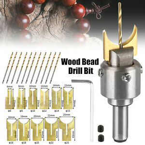 10/16pc Wood Bead Maker Beads Drill Bit Milling Cutter Set Kit Woodworking Tools
