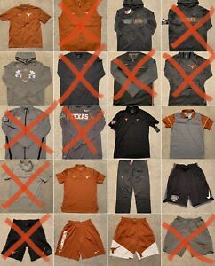 10 Nike Texas Longhorns University Sleeve Short Shirt Lot Dri Fit Polo Medium 1 $374.99