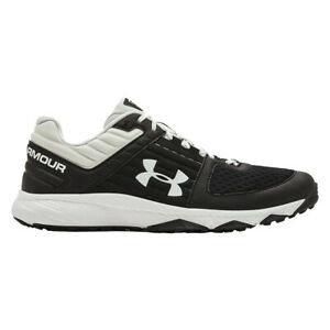 Under Armour Yard Trainer Wide Mens Baseball Shoes Black, White NEW List@$80 $67.99