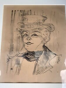 "HENRI DE TOULOUSE LAUTREC LITHOGRAPH HEAD OF REJANE IN ""MADAME SANS GENE"" $999.99"