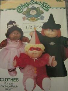 BUTTERICK CABBAGE PATCH KIDS SEWING PATTERN HALLOWEEN COSTUMES WITCH CLOWN $6.99