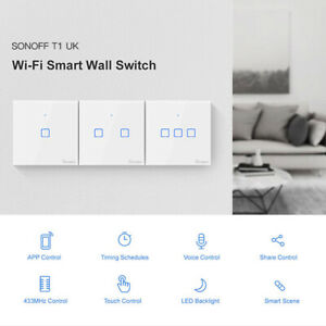 Sonoff Smart Wifi Touch Wall Switch 1/2/3 Gang Home Voice/APP Control US/UK/EU
