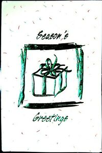 14 DELUXE GREEN FOIL CHRISTMAS CARDS SEASONS GREETINGS Friends FAST shipping $7.00