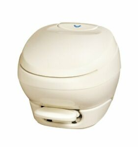 Aqua Magic Bravura RV Toilet Low Profile Parchment Thetford 31119