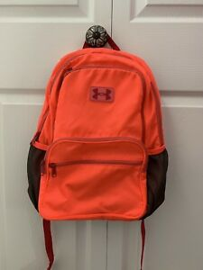 Under Armour UA Girls Backpack Neon Coral, Pink, Gray. Women. $12.99