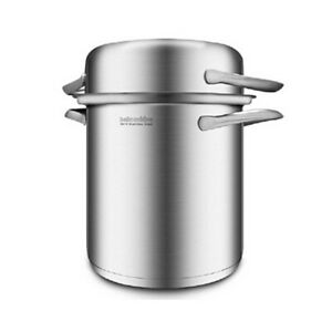 3 in 1 Stainless Steel Cookware Pasta Cooker Steamer Multipots 4.5 L/1.18gal