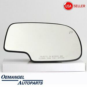 For Silverado Sierra Tahoe Yukon Mirror Glass Power Heated Right RH Passenger