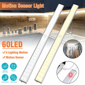 20 60 LED Motion Sensor Closet Cabinet Night Stairs Step Light USB Rechargeable
