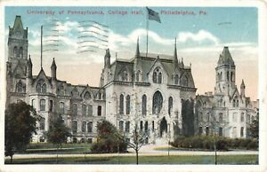 Postcard University of Pennsylvania College Hall Philadelphia $4.45