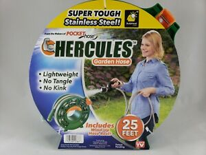 Stainless Steel Garden Hose Heavy Duty Comes With Reel 25 Feet NO KINK