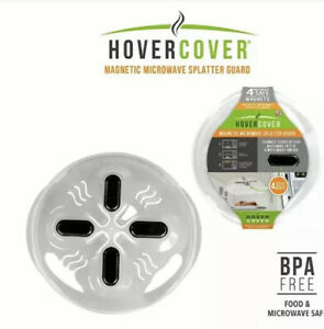 Hover Cover Magnetic Microwave Splatter Lid with Steam Vents Cover  [E-868]