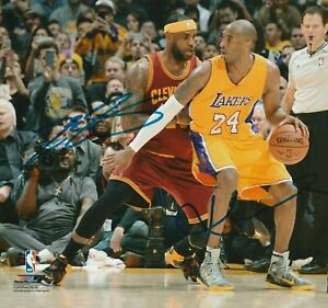 Kobe Bryant LeBron James Autographed Signed 8x10 Photo HOF Lakers REPRINT $9.99