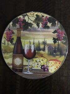 Country Farmhouse Wine Glass Cutting Board New