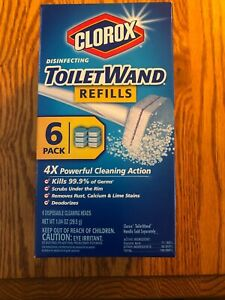 Clorox Disinfecting Toilet Wand Refills  Box of 6