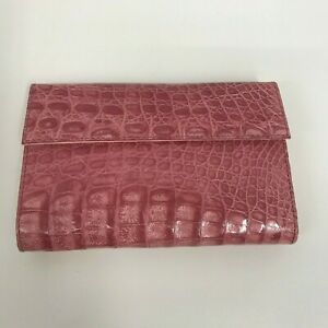 Alligator Wallet Clutch Style NWOT Pink For Change Dollar Bills