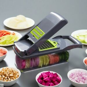 Vegetable & Fruit Cutter W/ Steel Mandoline Slicer Foodgrade Kitchen Accessories