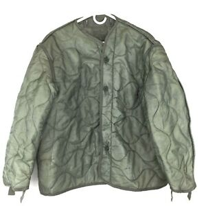 Military Coat Liner M65 Quilted Foliage Green Cold Weather Field Jacket Liner $27.99