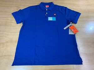 NIKE SPORTSWEAR TIGER WOODS DRI FIT GOLF POLO SHIRT BLUE L STANDARD FIT NWT $234.99