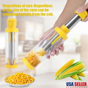 Stainless Kitchen Corn Cob Remover Stripper Peeler Thresher Cutter Salad Tool US