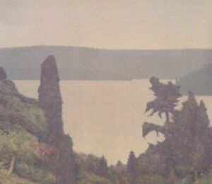 """Russell Chatham Original Lithograph """"Puget Sound"""" Signed Numbered Vtg 1989"""